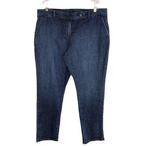 Talbots Signature Slim Ankle Jeans 16WP 16 NWT